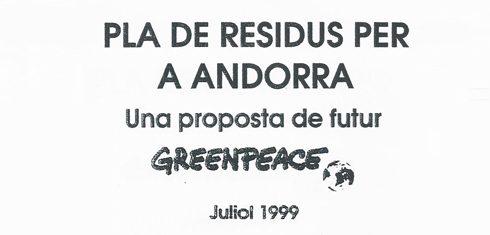 Estudi incineración a Andorra per Greenpeace